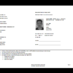 Texas Temp Driver's Permit, Template, Printable, Temporary With Regard To Texas Id Card Template