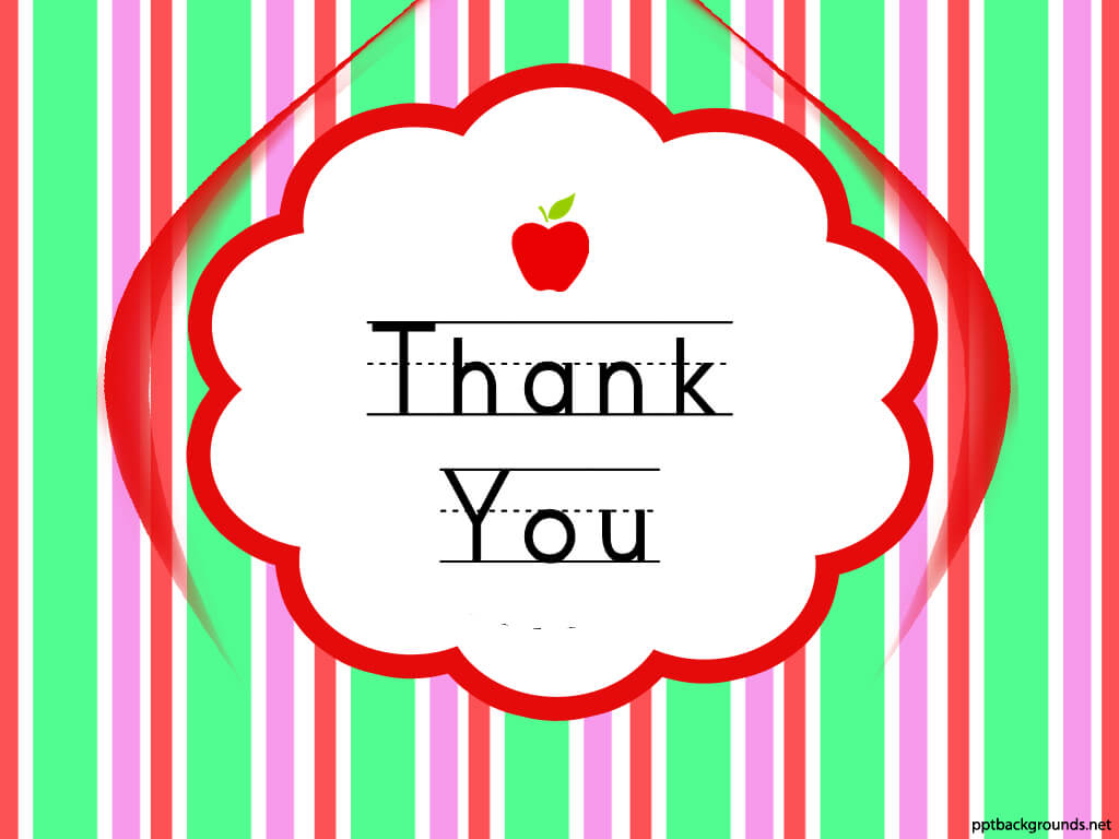 Thank You Cards For Teachers Backgrounds For Powerpoint For Powerpoint Thank You Card Template