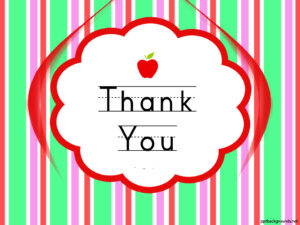 Thank You Cards For Teachers Backgrounds For Powerpoint Throughout Thank You Card For Teacher Template
