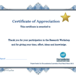 Thank You Certificate Template | Diy Projects To Try Throughout Free Templates For Certificates Of Participation