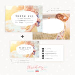 Thank You Note Card For Business | Set Of Two – Strawberry Kit In Thank You Note Cards Template