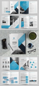 The Annual Report Template #brochure #template #indesign in Annual Report Template Word
