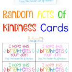 The Best Random Acts Of Kindness Printable Cards Free With Random Acts Of Kindness Cards Templates