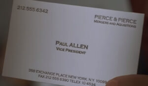 The Business Cards Of American Psycho | Hoban Cards intended for Paul Allen Business Card Template