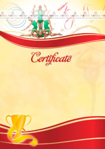 The Certificate Template «Rhythmic Gymnastics» – Dimaker in Gymnastics Certificate Template