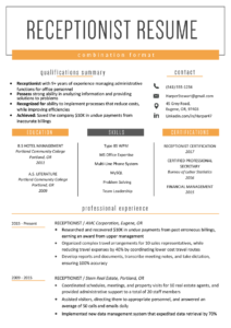 The Combination Resume: Examples, Templates, & Writing Guide inside Combination Resume Template Word