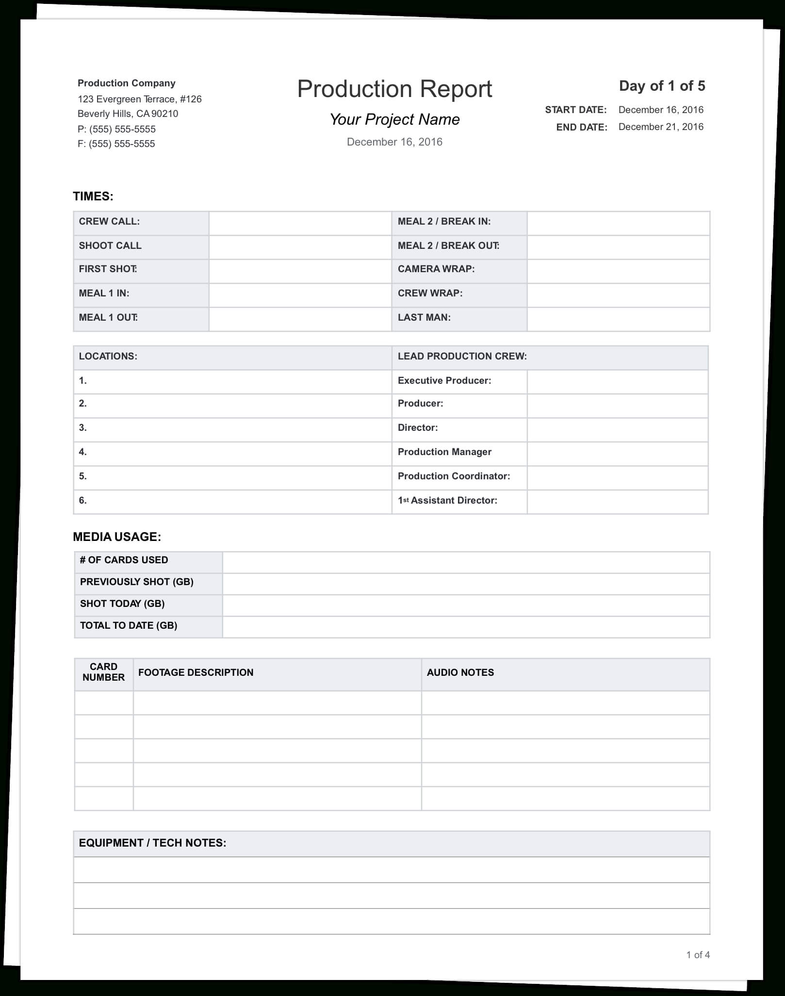 The Daily Production Report, Explained (With Free Template) Intended For Wrap Up Report Template