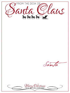 The Desk Of Letter Head From Santa Claus | Elf On The Shelf inside Blank Letter From Santa Template
