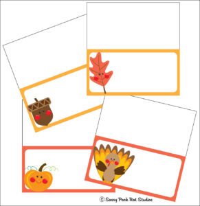 The Sassy Pack Rat: Thanksgiving Place Card Printable Freebie pertaining to Thanksgiving Place Card Templates