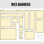 The Set Of Blank Web Banner Templates Pertaining To Free Blank Banner Templates