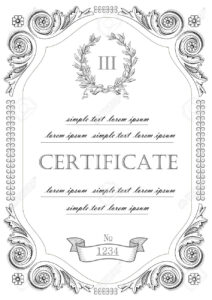 The Template For The Certificate And License In Vintage Classic Style.. For Certificate Of License Template