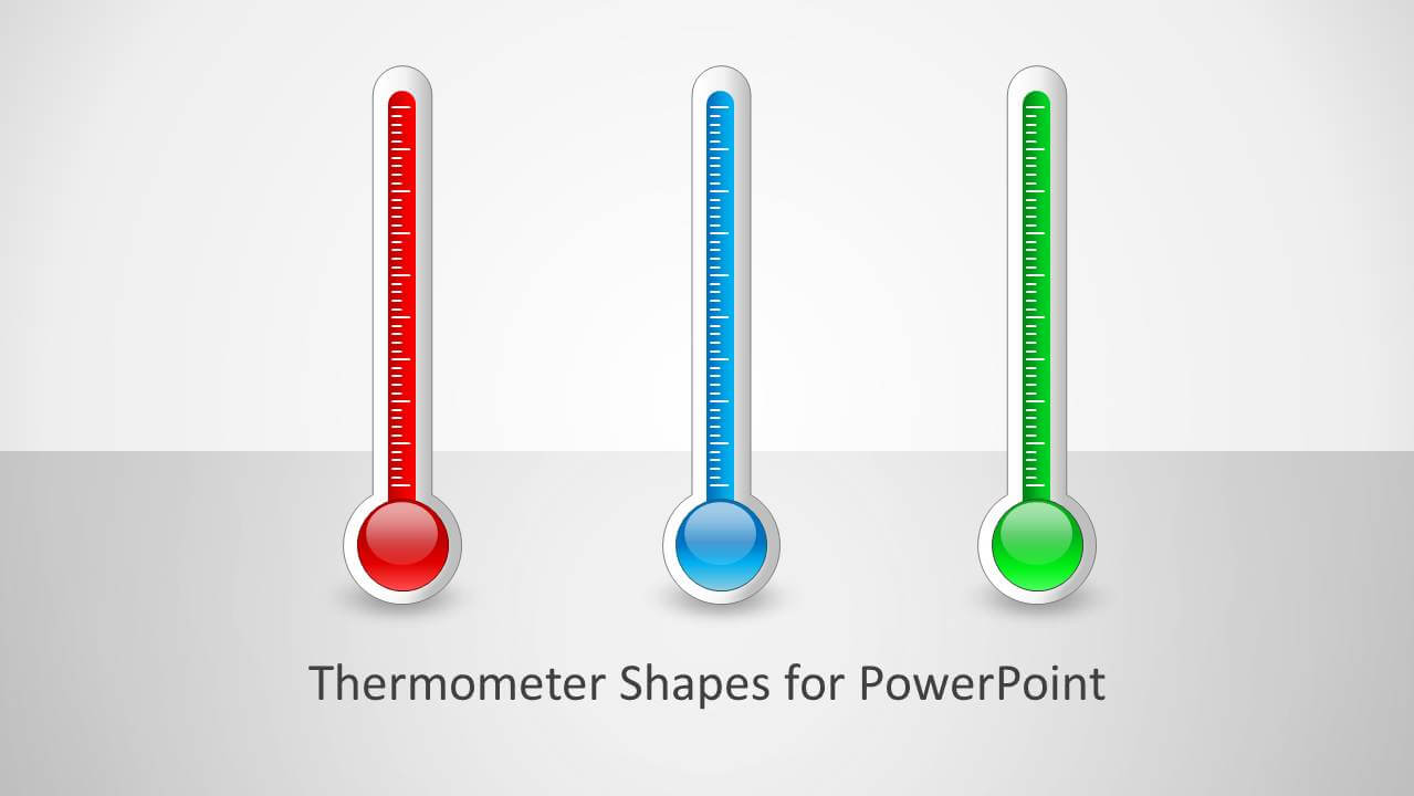 Thermometer Shapes For Powerpoint Pertaining To Thermometer Powerpoint Template