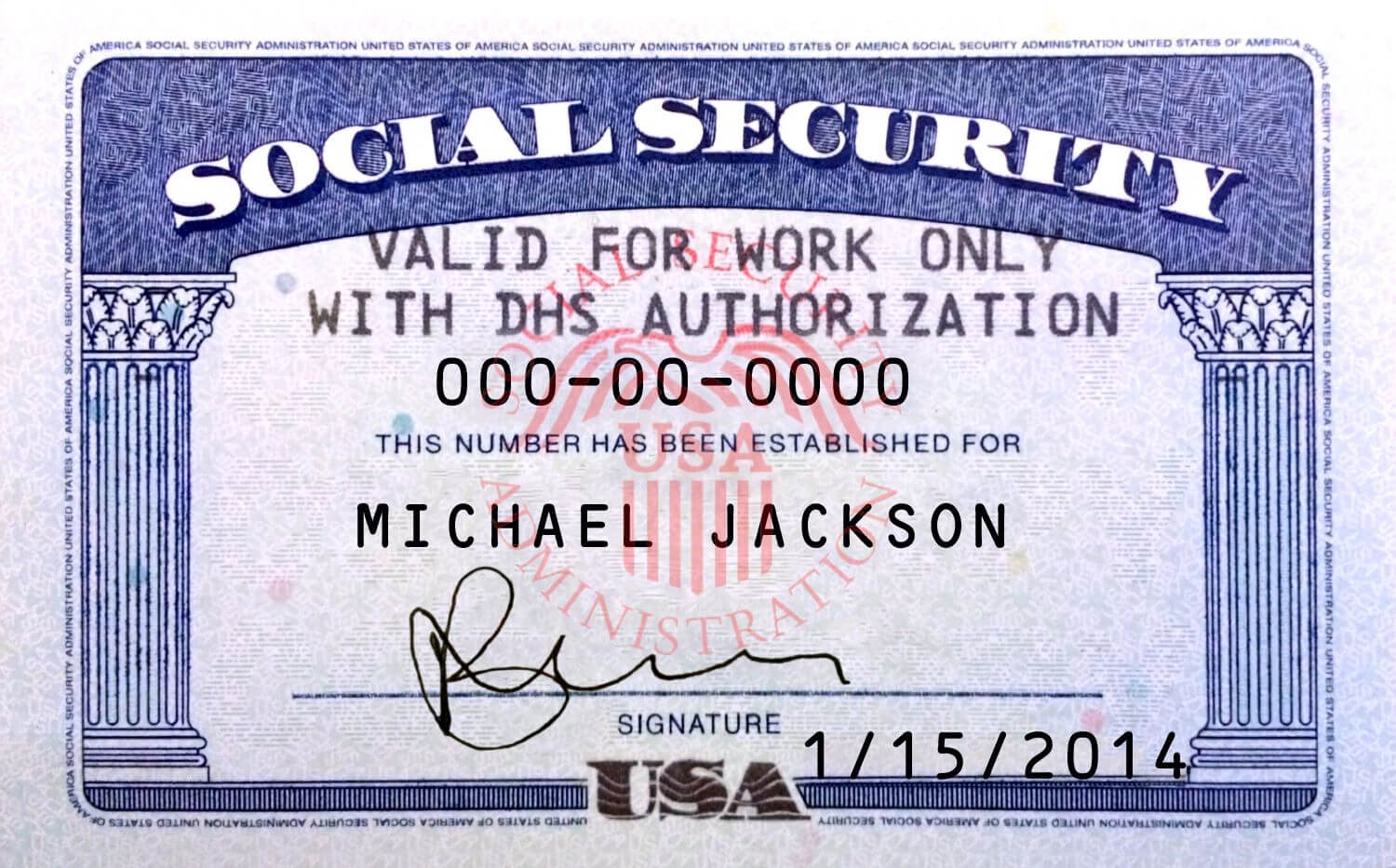 This Is Ssn Card (Usa) Psd (Photoshop) Template. On This Psd Inside Social Security Card Template Photoshop