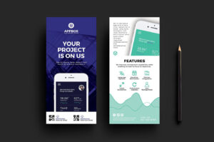 This Mobile App Dl Card Template Is Ideal For Promoting App within Dl Card Template