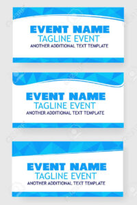 Three Style Light Blue Triangle Blank Template Event Banner Or.. for Event Banner Template
