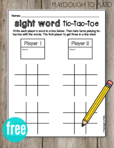 Tic Tac Toe | Ela | Teaching Sight Words, Word Games For Within Tic Tac Toe Template Word