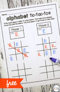 Tic Tac Toe – Playdough To Plato In Tic Tac Toe Template Word