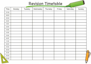Timetable Template Free #timetabletemplateexcel | Journals with regard to Blank Revision Timetable Template