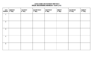 Timetable Template | Timetable Templates | Timetable with regard to Blank Revision Timetable Template