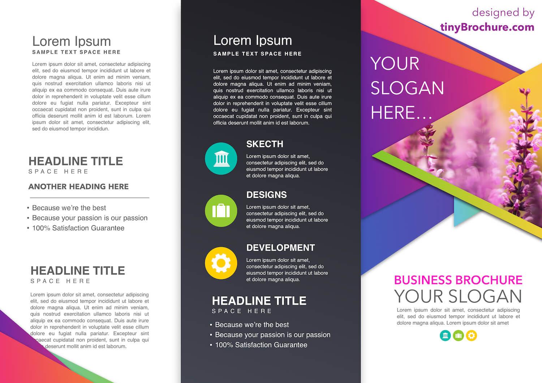 Tinyppt: Smart Art Infographic Brochure Newspaper Template For Google Drive Brochure Template