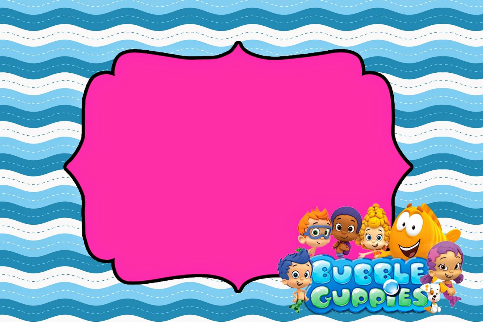 Tips & Ideas: Lovely Bubble Guppies Invitations For Your Inside Bubble Guppies Birthday Banner Template