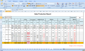 Tips To Make Daily Production Report Quickly? within Monthly Productivity Report Template
