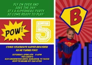 Tips To Make Superman Birthday Invitation — Metal Decorations pertaining to Superman Birthday Card Template