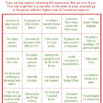 """Today's Game Is """"life Experiences Bingo."""" This Makes A Great For Ice Breaker Bingo Card Template"""