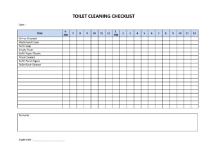 Toilet Cleaning Checklist – Download This Printable Toilet In Cleaning Report Template