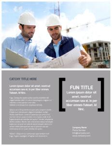 Top Engineering Consultants Flyer Template in Engineering Brochure Templates