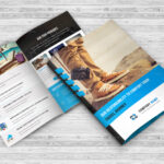 Tours & Travel Bi Fold Brochure Template For Two Fold Brochure Template Psd