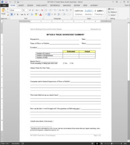 Trade Show-Event Summary Template | Mt1030-9 with regard to After Event Report Template