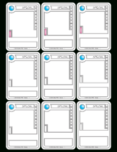 Trading Card Game Template inside Superhero Trading Card Template