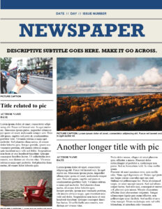 Traditional Newspaper intended for Blank Newspaper Template For Word