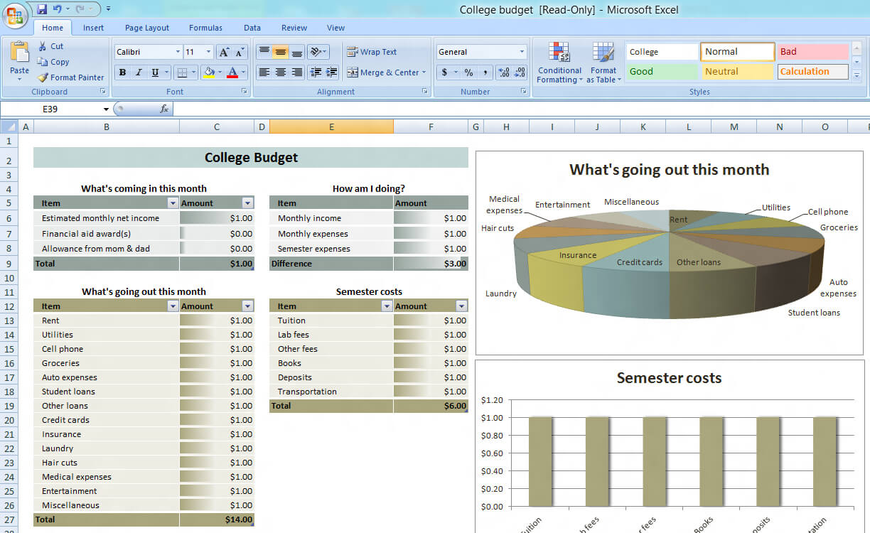 Training Budget Template Xls • Business Template Ideas Throughout Flexible Budget Performance Report Template