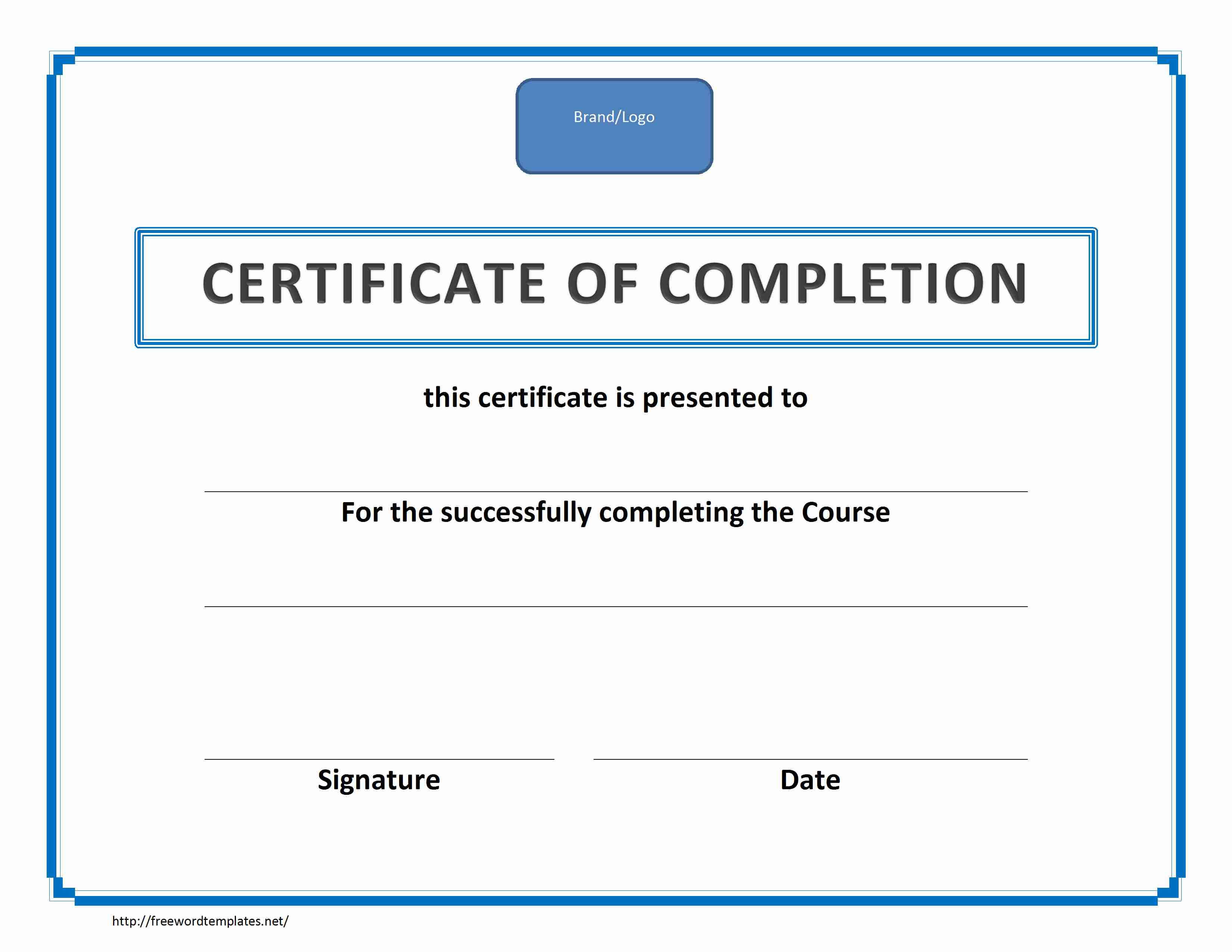 Training Certificate Template Word Format Within Training Certificate Template Word Format