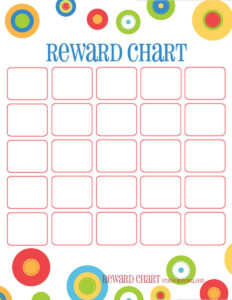 Training Chart & Reward Chart All Four Of These Portrait pertaining to Blank Reward Chart Template
