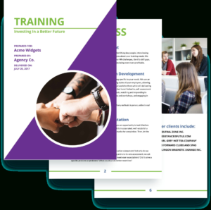 Training Proposal Template – Free Sample | Proposify with regard to Training Brochure Template