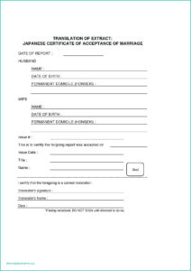 Translation Of Birth Certificate Template – Verypage.co pertaining to Marriage Certificate Translation Template