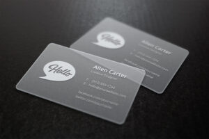 Translucent Business Cards Mockup | Graphicburger in Transparent Business Cards Template