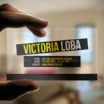 Transparent Business Cards Template