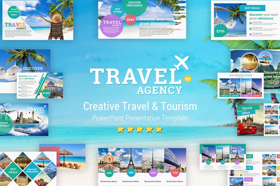Travel And Tourism Powerpoint Presentation Template - Yekpix Regarding Powerpoint Templates Tourism