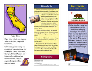 Travel Brochure Examples For Students | Theveliger with Travel Brochure Template For Students