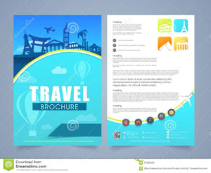 Travel Brochure, Template Or Flyer Design. Stock pertaining to Travel And Tourism Brochure Templates Free