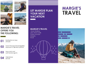 Travel Brochure with Travel And Tourism Brochure Templates Free