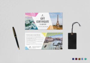Travel Gift Certificate Template in Gift Certificate Template Publisher
