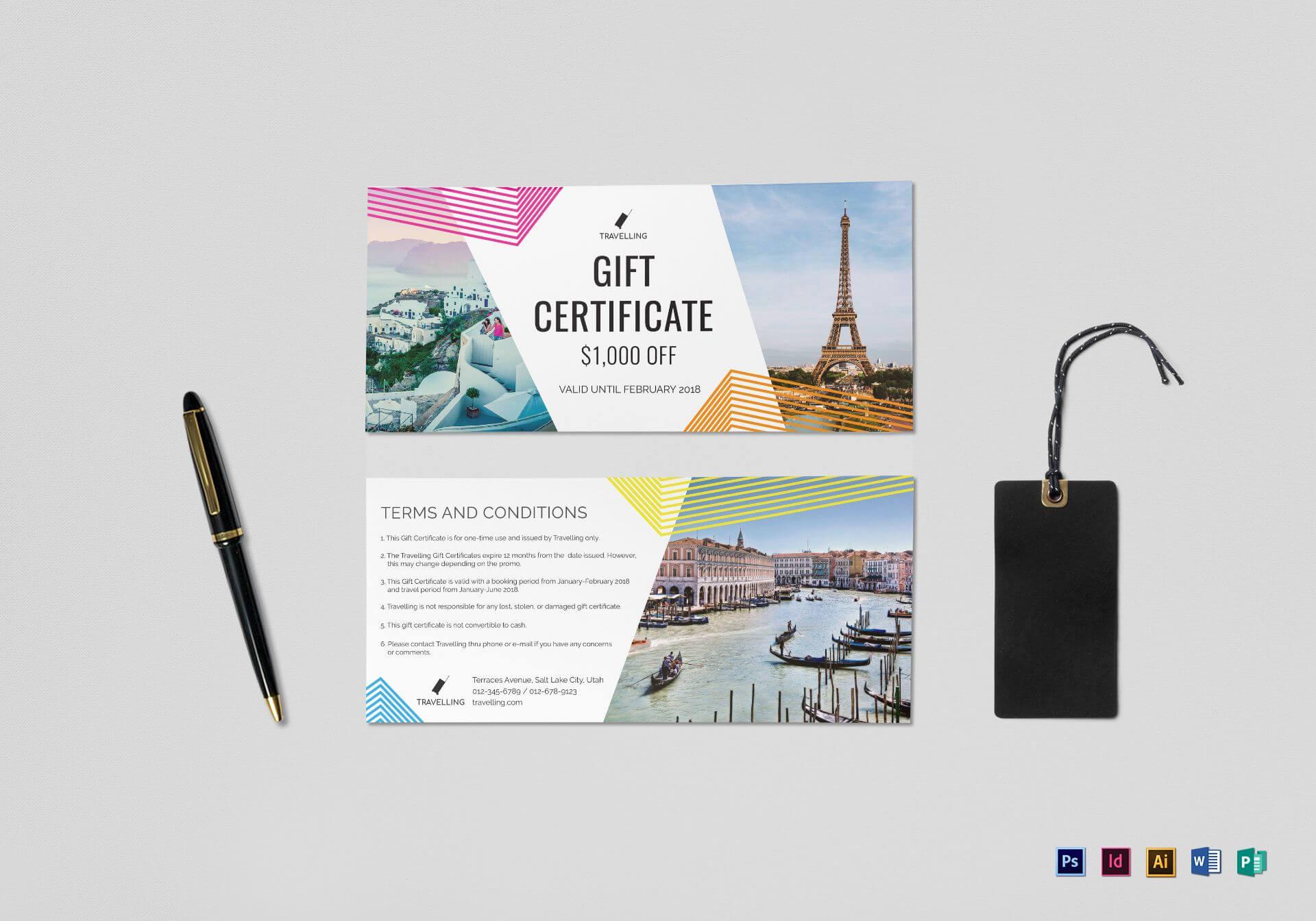 Travel Gift Certificate Template Regarding Gift Certificate Template Indesign