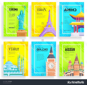 Travel Guide Brochure Template New Travel Flyer Template throughout Country Brochure Template