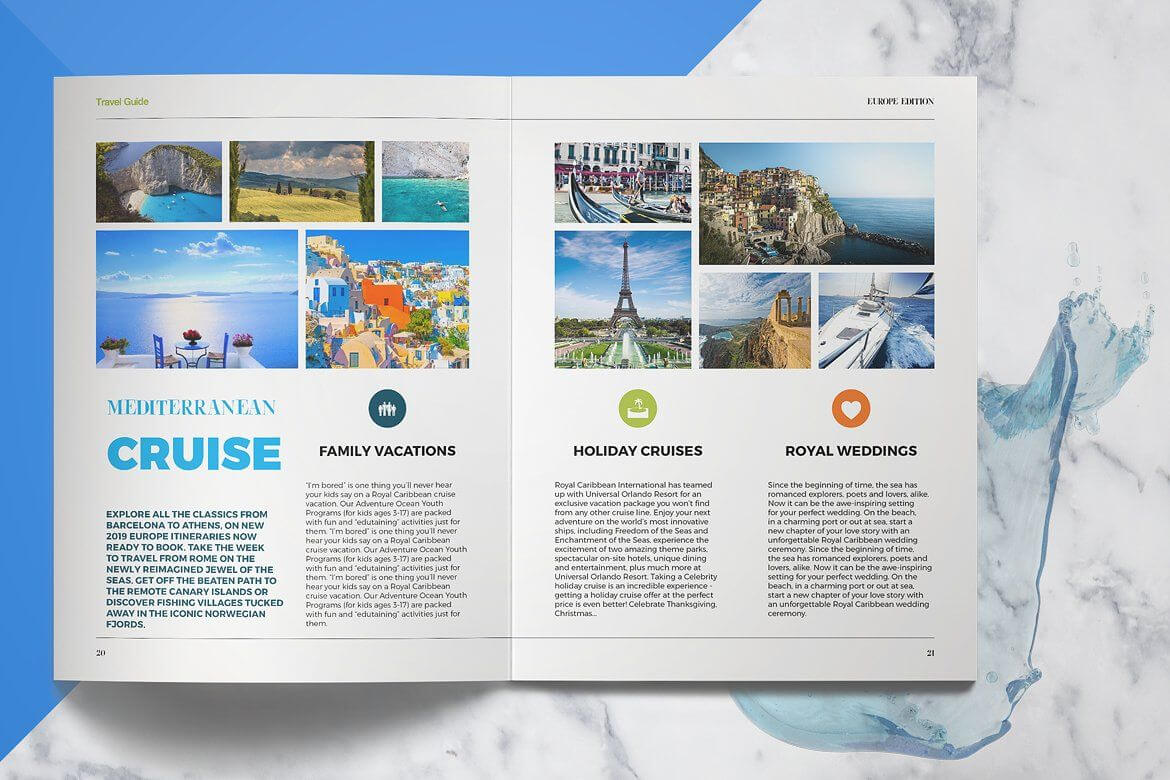 Travel Guide #create#designs#supply#products | Backgrounds with Travel Guide Brochure Template