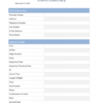 Travel Itinerary Template For Word Business New Free Intended For Blank Trip Itinerary Template